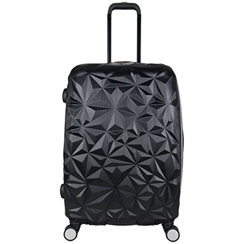 "Aimee Kestenberg Women'S 24"" Abs Expandable 8-Wheel Upright Checked Luggage, Black"
