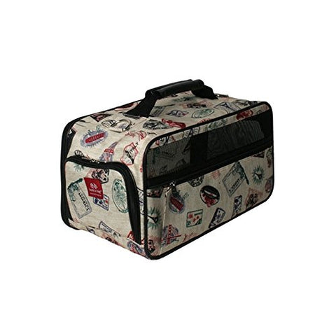 Bark-N-Bag Classic Postage Stamp Collection Pet Carrier, Medium