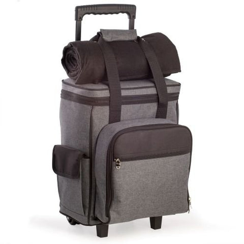 Bey Berk Black And Gray 4 Person Poly Canvas Picnic Trolley