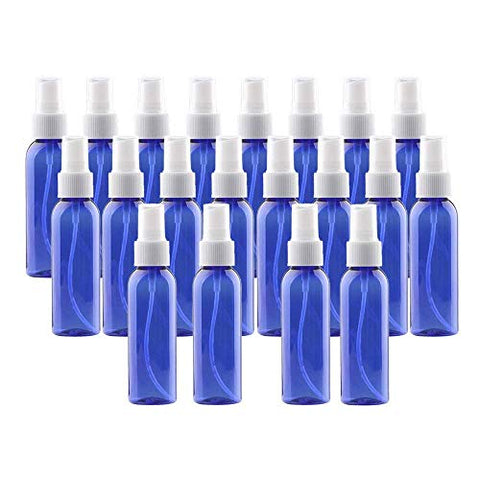 20pcs Plastic Spray Bottles 60ML- 2oz Empty Portable Refillable Makeup Clear Sprayer Bottle with