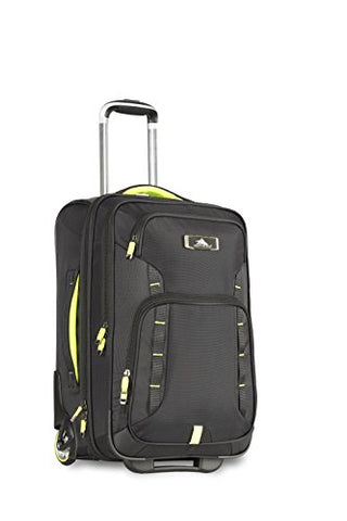 High Sierra At8 Wheeled Carry-On With Pack N Go Backpack, Black/Zest,