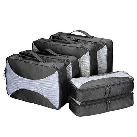 G4Free Packing Cubes 6pcs Set Travel Luggage Organizers Accessories Small, Medium, Large