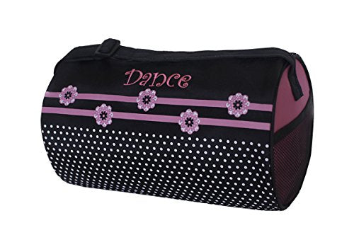 "Sassi Designs Flower Dot Small Roll Duffel Bag Size: Small 7"" X 12"""