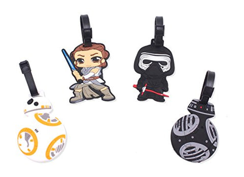 Finex Set of 4 - Star Wars: The Last Jedi Travel Silicone Luggage Tags Bag Tag Adjustable Strap