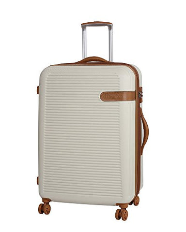 "It Luggage Valiant 28"" Hardside 8 Wheel Expandable Lightweight Spinner, Cream With Almond Trim"
