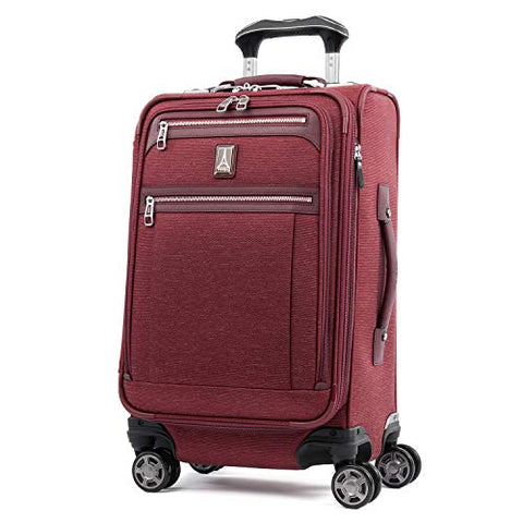 "Travelpro Luggage Platinum Elite 21"" Carry-On Expandable Spinner With Usb Port, Bordeaux"