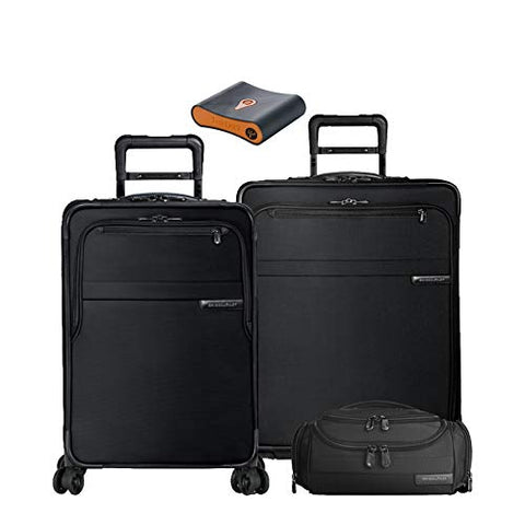 Briggs & Riley Baseline Set: C/O & Med Exp Spinners, Exec Toiletry Kit, Portmantos Tracking