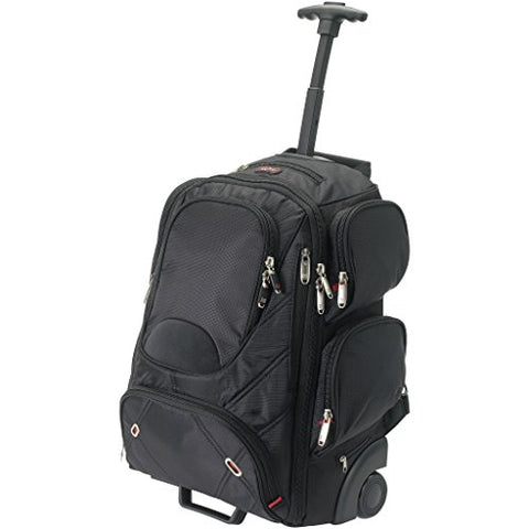 Elleven Proton Checkpoint Friendly 17in Laptop Wheeled Backpack (13.6 x 7.5 x 19.7 inches) (Solid