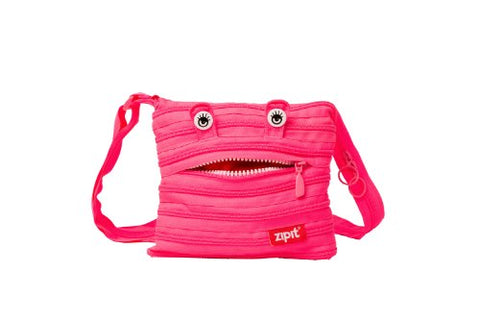 Zipit Monster Children Mini Shoulder Bag, Pink
