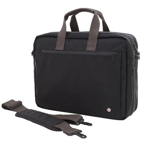 Token Bags Lawrence Laptop Bag Large With Back Zipper, Black, One Size