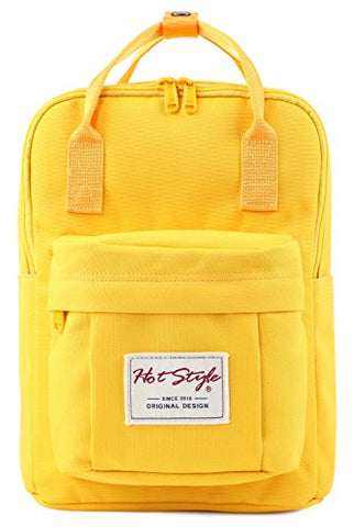"Bestie 12"" Cute Mini Small Backpack Purse Travel Bag - Yellow"