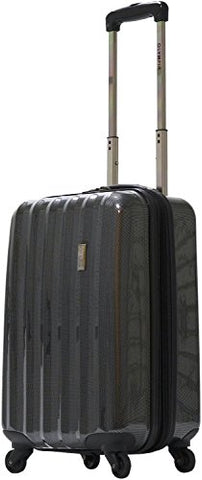 "Olympia Titan 21"" Expandable Hardcase Carry-On Spinner, Wheeled Luggage in Black"