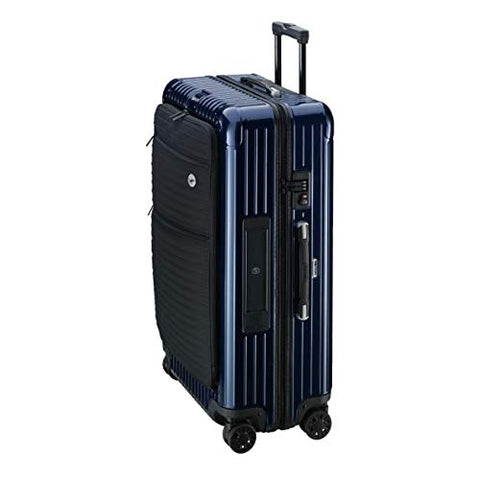 RIMOWA Lufthansa Bolero Collection Multiwheel XL+ Trolley with RIMOWA Electronic Tag, Blue 85L