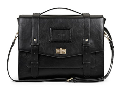 ECOSUSI Ladies Faux Leather Briefcase Shoulder Laptop Messenger Bags Satchel Bag Cambridge Backpack