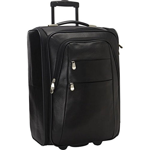Bellino Leather Folding Luggage, Black