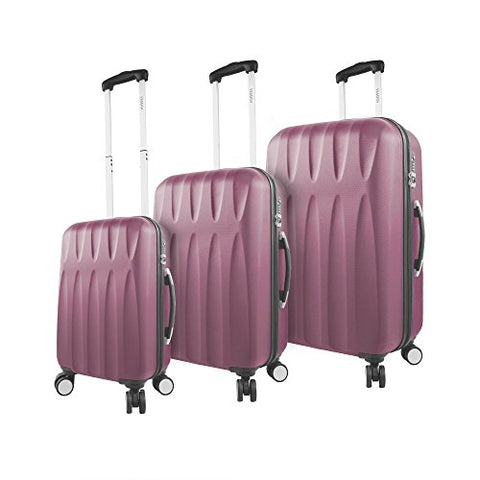 Viaggi Positano Hardside Spinner 3 Piece Set, Burgundy, One Size