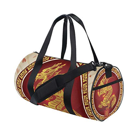OuLian Duffel Bag Chinese Zodiac Symbols Women Garment Gym Tote Bag Best Sports Bag for Boys