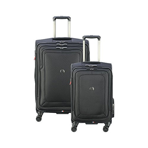 "Delsey Luggage Cruise Lite Softside Luggage Set (21""/25""), Black"