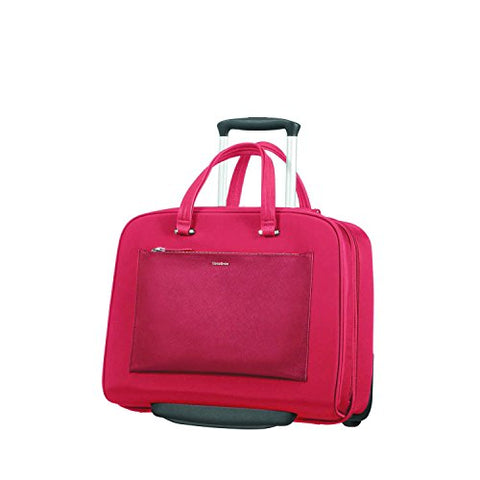 "SAMSONITE ROLLING TOTE 15.6"" (RED) -ZALIA  Travel Tote, 0 cm, Red"
