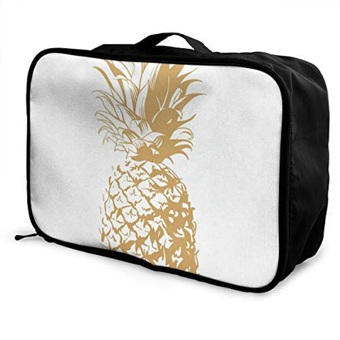 Travel Bags Summer Fruit Pineapple Portable Duffel Trolley Handle Luggage Bag