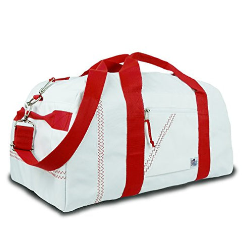 Sailor Bags Square Duffel (White/Red Straps, X-Large)
