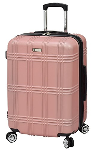 "London Fog Kingsbury 25"" Spinner Luggage, Rose Gold"