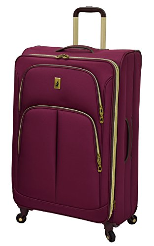 "London Fog Coventry Hyperlights 29"" Expandable Spinner, Plum"
