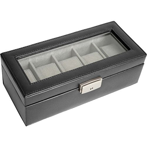 Royce Leather 5 Slot Watch Box