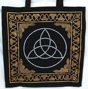AzureGreen RB75TR Gold And Silver Triquetra Tote Bag