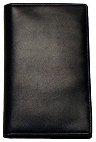 Slim Breast Leather Pocket Wallet In Black