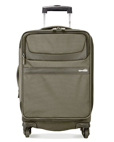 "Genius Pack G3 22"" Carry On Spinner Luggage - Smart, Organized, Lightweight Suitcase (Titanium)"