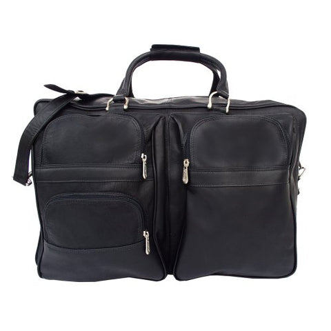Piel Leather Complete Carry-All Bag, Black, One Size