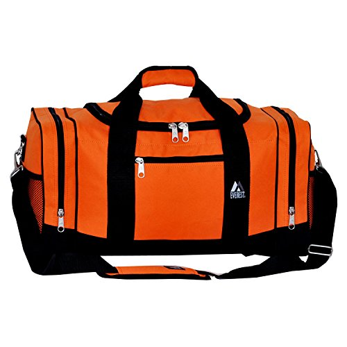 Everest Sporty Crossover Duffel Bag, Orange, One Size