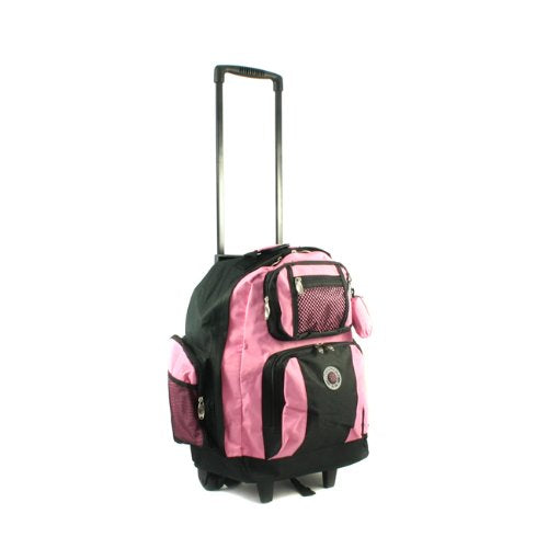 Transworld Roll-Away Deluxe Rolling Backpack - Pink