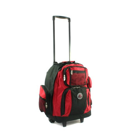 Transworld Roll-Away Deluxe Rolling Backpack - Red