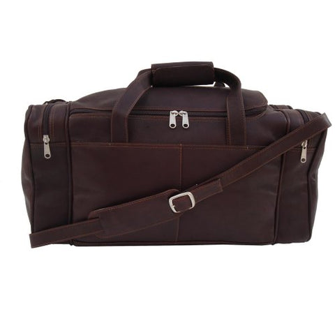 Piel Leather Small Duffel Bag, Chocolate, One Size