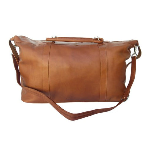 Piel Leather Large Carry-On Satchel, Saddle, One Size