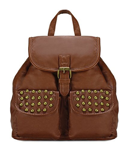 Scarleton Trendy Studded Jacquard Backpack H200304 - Brown