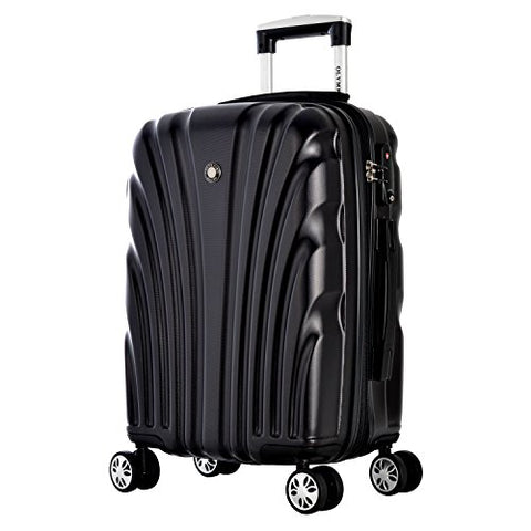 Olympia Vortex Carry-on Hardcase Spinner W/TSA Lock, Black