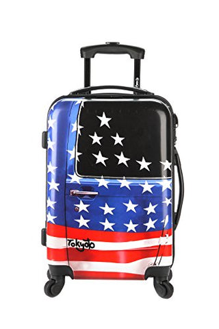 "Hand Cabin Carry-on Luggage 20""/55cm By Tokyoto Luggage Model Amercian Door (Charger Powerbank Prepared Luggage)"
