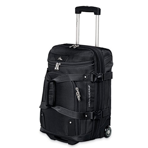 "High Sierra At3 26"" Drop Bottom Wheeled Duffel Black"