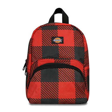 Dickies The Student Buffalo Plaid Backpack, Red and Black Buffalo Plaid