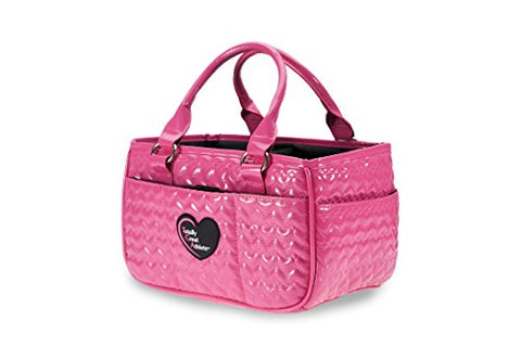 Tga Glossy Hot Pink Heart Ice Skating Bag Tennis Gym And Ballet Girls Athletic Bag