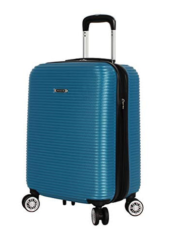 "Nicole Miller New York Bernice Collection Hardside 20"" Luggage Spinner (20in, Bernice Blue)"