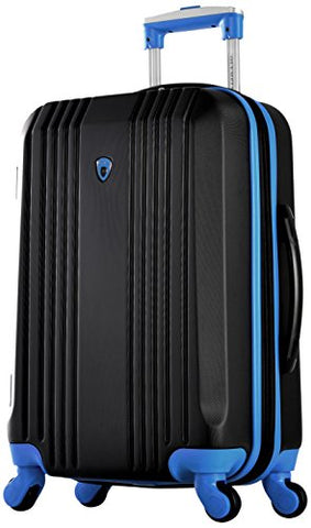 "Olympia Apache Ii 21"" Carry-On Spinner, Black+Blue"