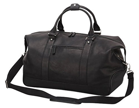 "Bellino Eiffel Leather Duffel, 20"" L, Black"