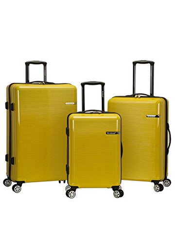 Rockland Horizon 3 Piece Polycarbonate/Abs Upright Set, Yellow