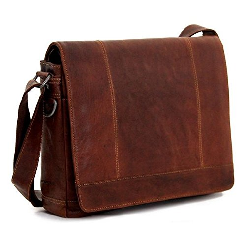 Voyager Full Size Messenger Bag Color: Brown