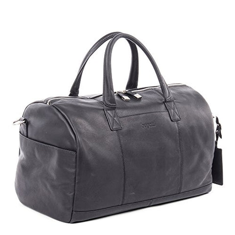 Bugatti Sartoria Top Grain Leather Sport Bag, Top Grain Leather, Black