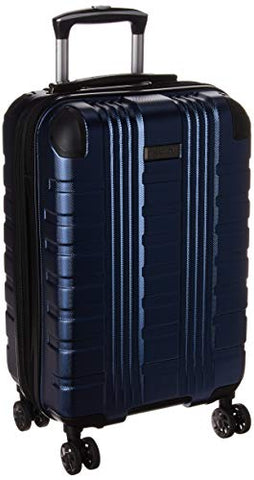 "Kenneth Cole Reaction Scott's Corner 20"" Expandable 8-wheel Carry-on Spinner Luggage With Tsa Locks Navy"
